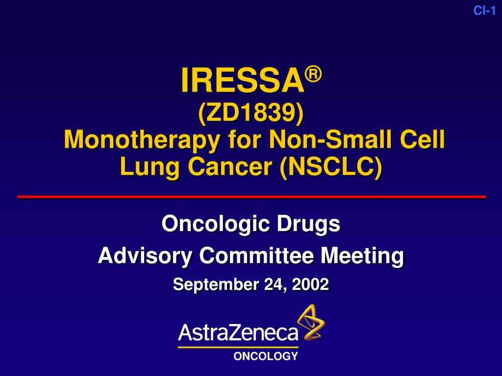 iressa zd1839 monotherapy for non small cell lung cancer nsclc l.