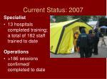 current status 2007