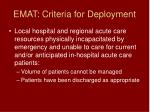 emat criteria for deployment81