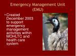 emergency management unit emu