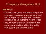 emergency management unit19