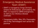 emergency medical assistance team emat