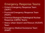 emergency response teams