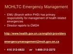 mohltc emergency management