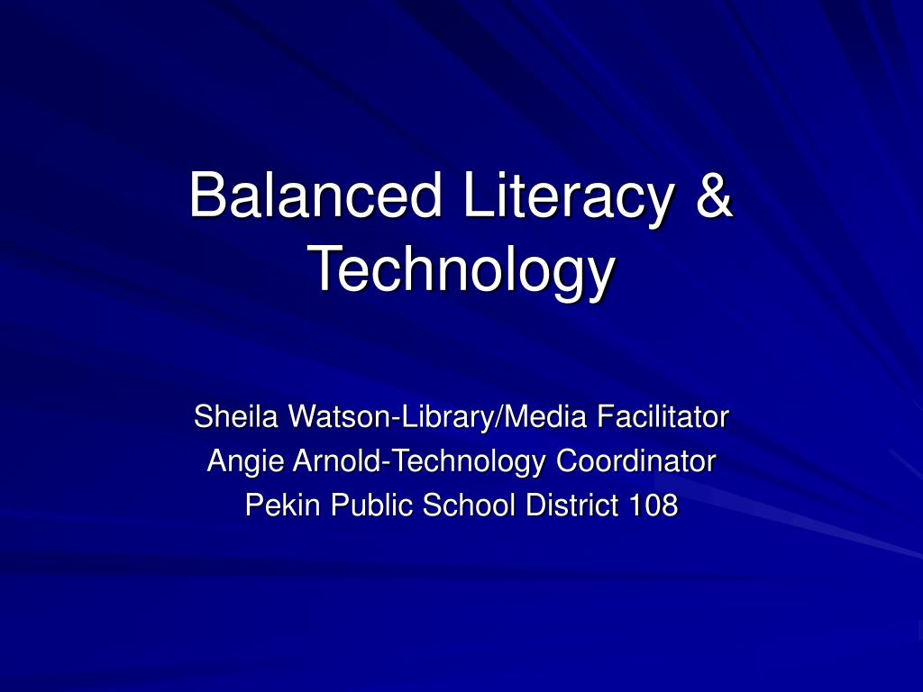 balanced literacy technology l.