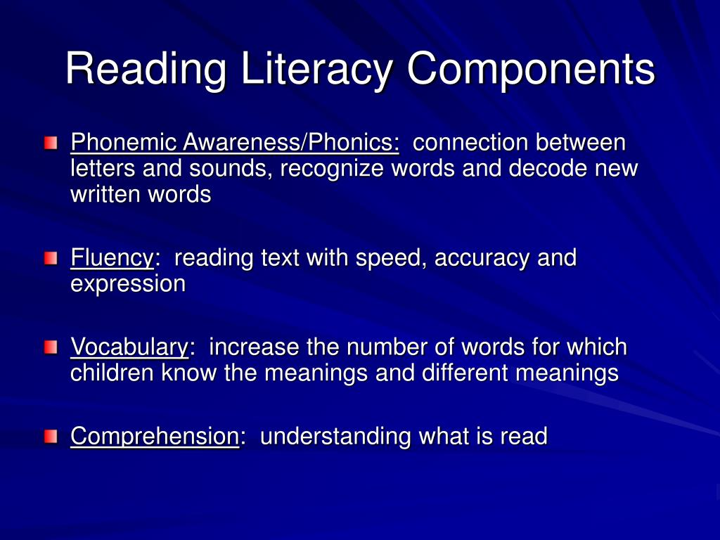 Reading Literacy Components