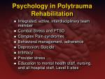 psychology in polytrauma rehabilitation