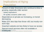 implications of aging population
