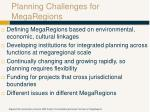 planning challenges for megaregions