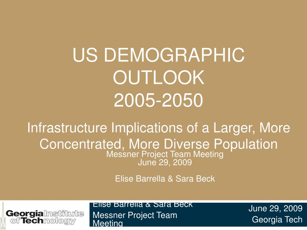 us demographic outlook 2005 2050 l.
