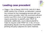 leading case precedent