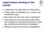 legal issues swirling in the clouds