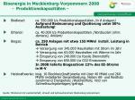 bioenergie in mecklenburg vorpommern 2008 produktionskapazit ten