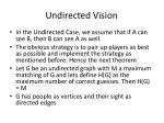 undirected vision