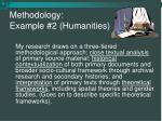 methodology example 2 humanities