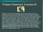 problem statement example 2