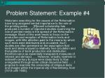 problem statement example 4