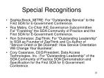 special recognitions
