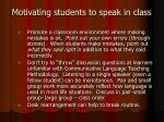 motivating students to speak in class11