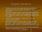 teacher concerns