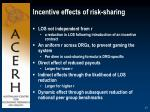 incentive effects of risk sharing