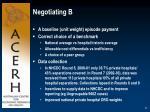 negotiating b