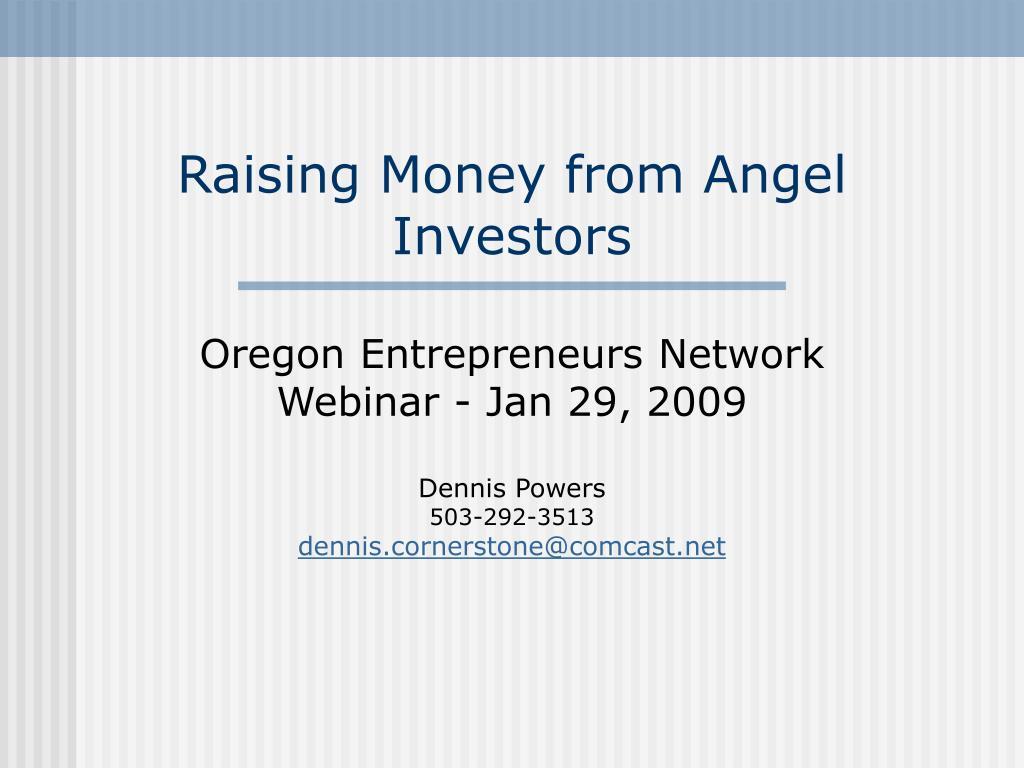 raising money from angel investors l.