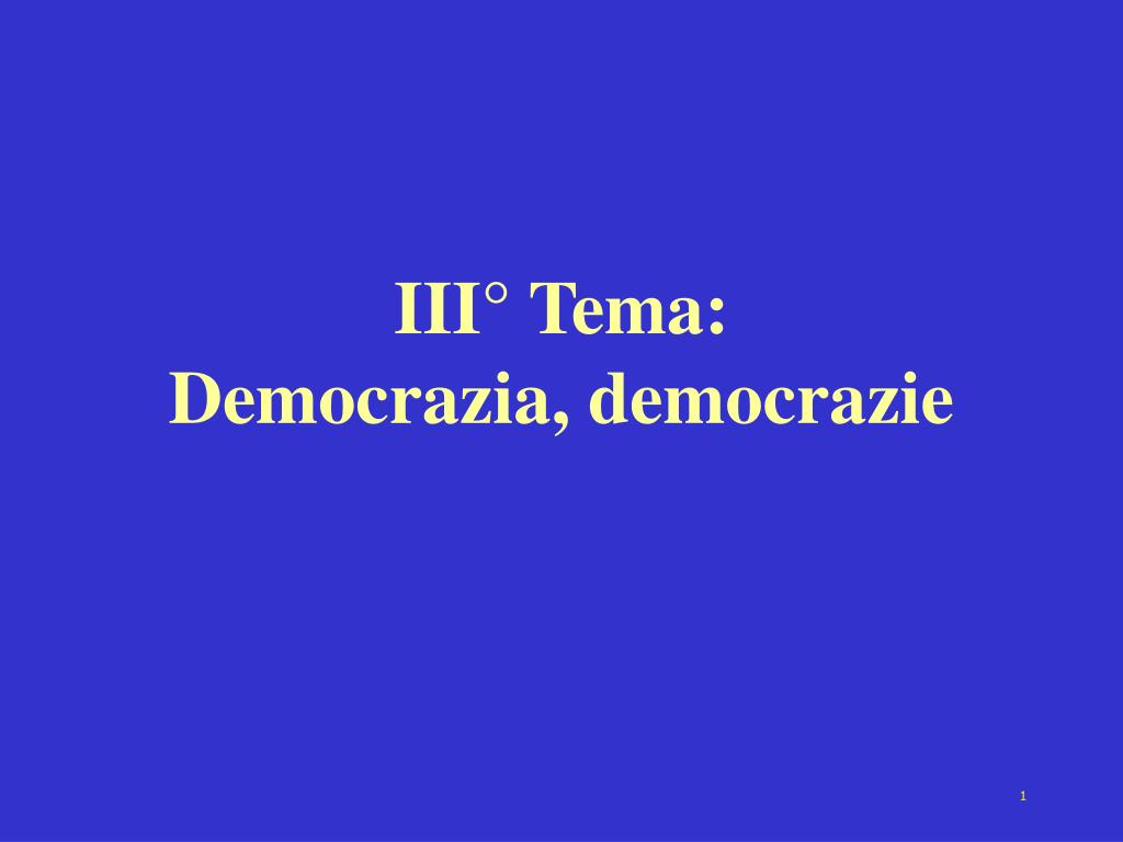 iii tema democrazia democrazie l.