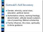 gottwald s self inventory