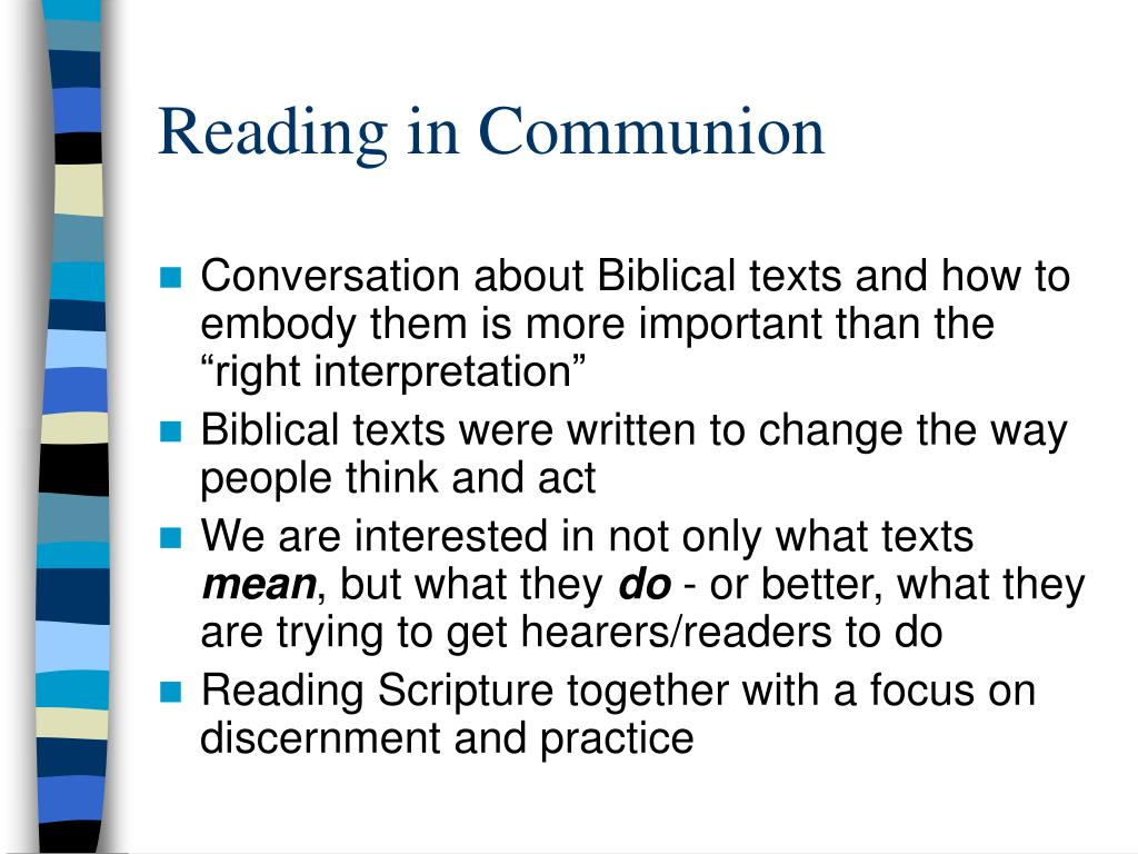 reading in communion l.