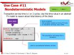 use case 11 nondeterministic models