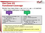 use case 6 functional coverage17