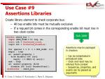 use case 9 assertions libraries