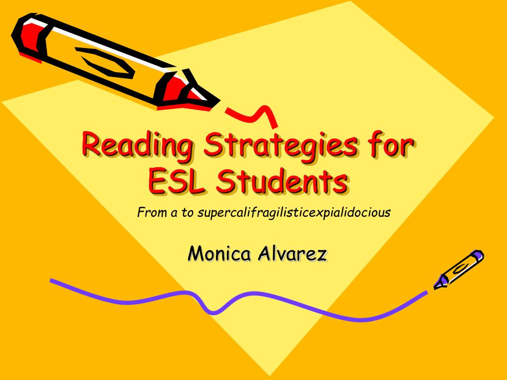 reading strategies for esl students l.