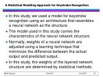 a statistical modeling approach for keystroke recognition