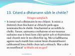 13 c ard a dh anann sibh le ch ile28