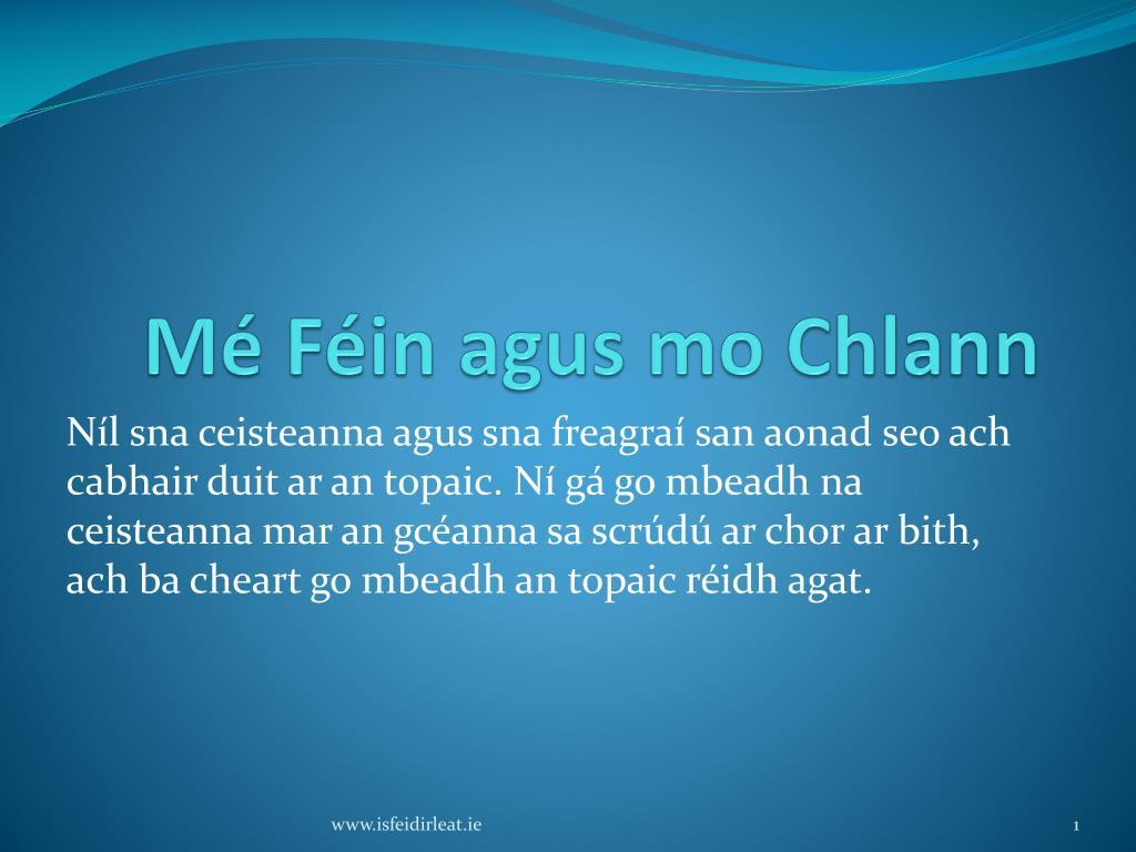 m f in agus mo chlann l.