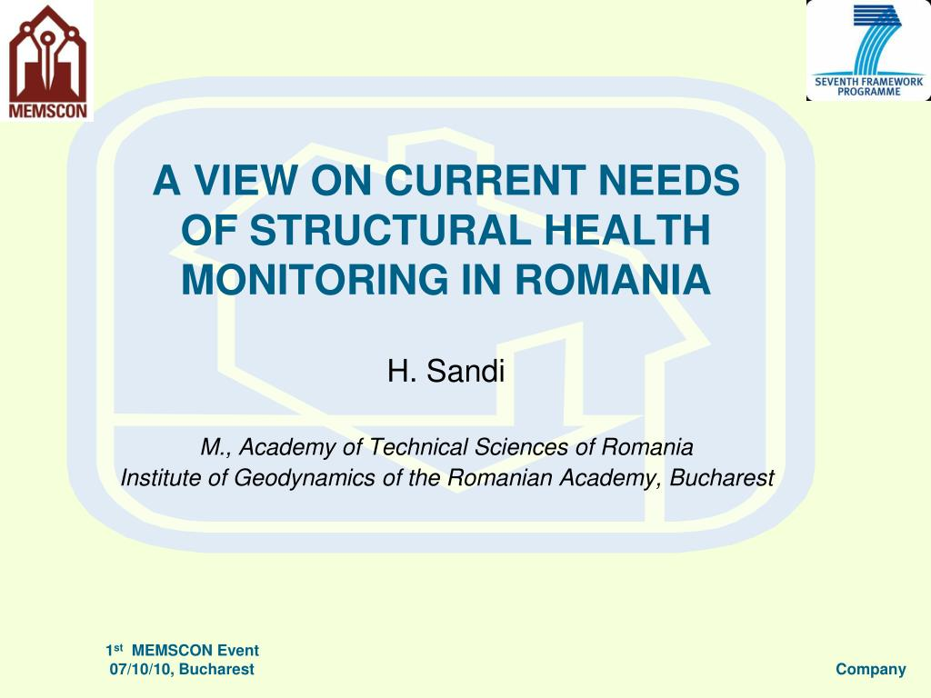 a view on current needs of structural health monitoring in romania l.