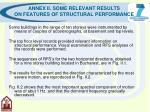 annex ii some relevant results on features of structural performance