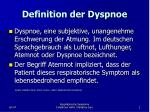 definition der dyspnoe