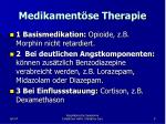 medikament se therapie