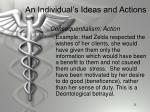an individual s ideas and actions1