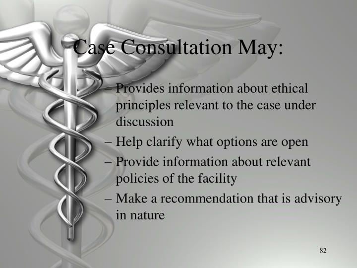 Case Consultation May:
