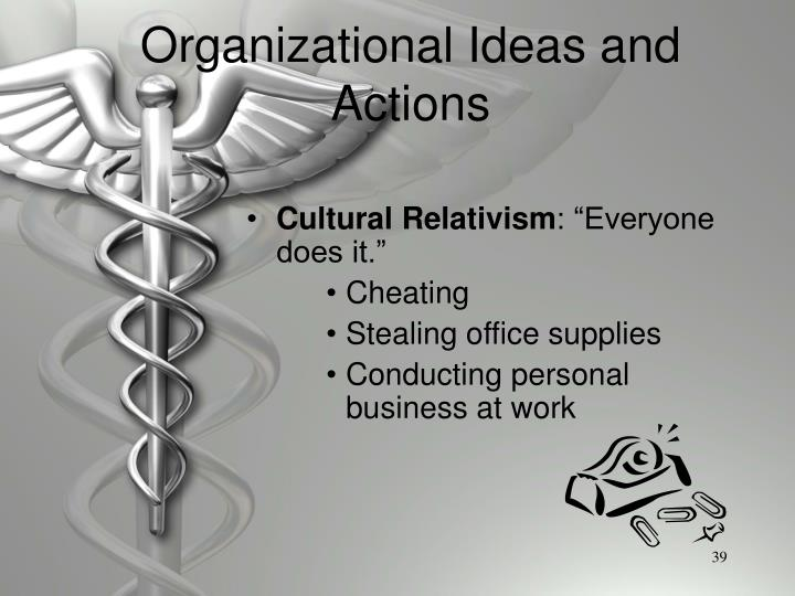 Organizational Ideas and Actions
