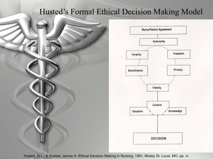 Husted's Formal Ethical Decision Making Model