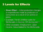 3 levels for effects