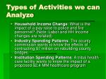 types of activities we can analyze24