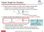 factor graph for clusters