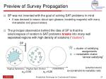 preview of survey propagation