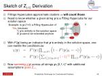 sketch of z 1 derivation